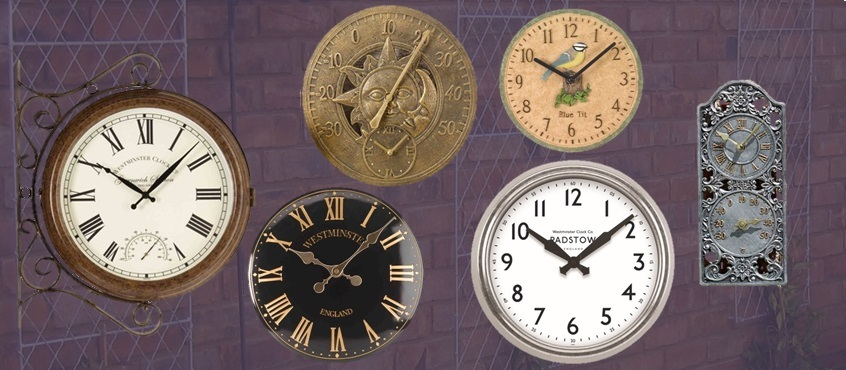 Our wide range of indoor or  outdoor garden clocks make ideal  presents that will brighten up anyone's garden or conservatory.